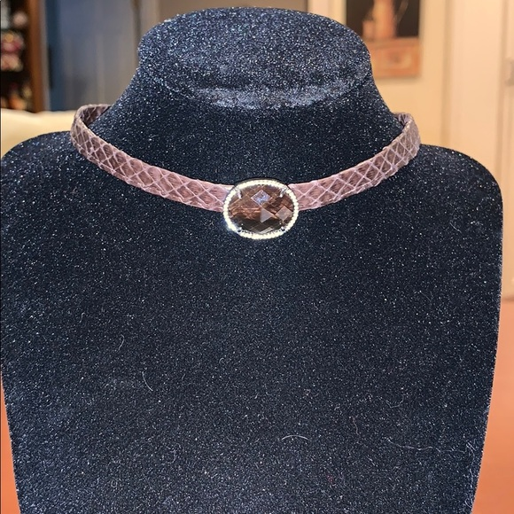 Jewelry - Leather Snake Skin Choker